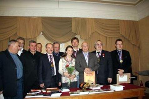 Слева направо: С. Мнацаканян, В. Хохлев, Д. Мизгулин А. Смирнов, И. Щелоков, А. Шацков, О. Рычкова, А. Котюсов, В. Кирюшин, А. Романов, К. Козлов